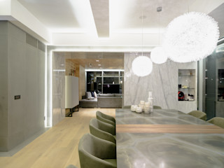 NIVEL TRES ARQUITECTURA Modern dining room Wood Beige