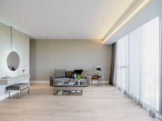 NIVEL TRES ARQUITECTURA Modern style bedroom Wood Beige