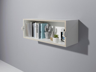 studio michael hilgers Living roomStorage Engineered Wood