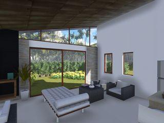 realizearquiteturaS Tropische Wohnzimmer