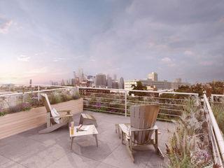 King & Sullivan GD Arredamenti Balcones y terrazas de estilo moderno