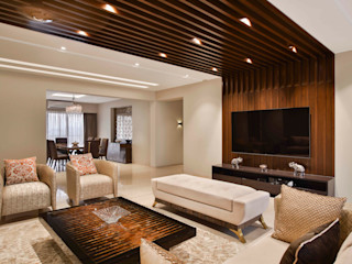 Milind Pai - Architects & Interior Designers Living room Marble Beige