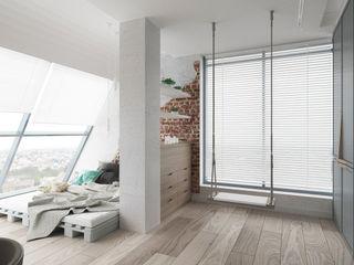 Suiten7 Endüstriyel Çalışma Odası Beyaz