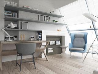 Suiten7 Endüstriyel Çalışma Odası Gri