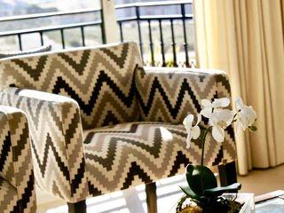 Elite De Elogios غرفة المعيشةكراسي ومقاعد قماش Brown
