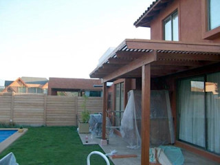 homify Classic style balcony, veranda & terrace Solid Wood Wood effect