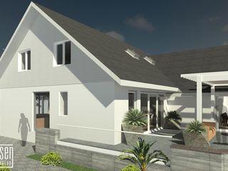 REMODELACIÓN DE VIVIENDA GMS. FL. Miami. USA. EISEN Arquitectura + Construccion Casas de estilo minimalista Madera Blanco