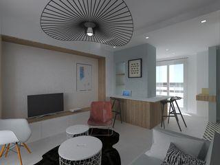 Appartement 40m² - Rue Mozart SAS Alexandre TRIPIER Salon scandinave
