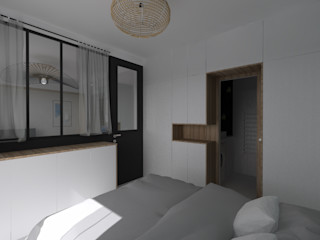 Appartement 40m² - Rue Mozart SAS Alexandre TRIPIER Chambre scandinave