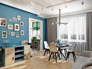CO:interior Living room Blue