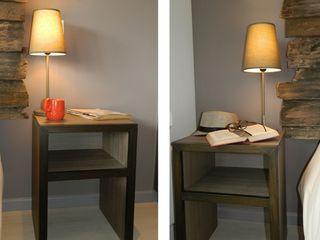 DDO Diseño Rustic style bedroom Wood Grey