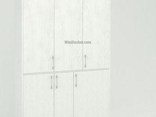 Mini Cucina a scomparsa da cm. 139 MiniCucine.com CucinaArmadietti & Scaffali Legno Bianco