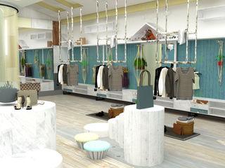 Yunhee Choe Industrialna garderoba Drewno Niebieski