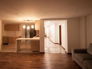 AMR estudio Modern corridor, hallway & stairs
