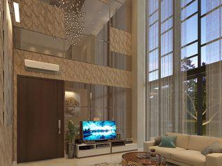 PRIVATE RESIDENTIAL @ NAVAPARK, BSD CITY, TANGERANG PT. Dekorasi Hunian Indonesia (DHI) Ruang Keluarga Modern