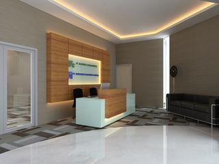 MODERN OPEN SPACE OFFICE @ AGUS SALIM, JAKARTA PT. Dekorasi Hunian Indonesia (DHI) Bangunan Kantor Modern