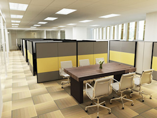 WARM AND OPEN SPACE OFFICE @ SEMANGGI PT. Dekorasi Hunian Indonesia (DHI) Kantor & Toko Modern