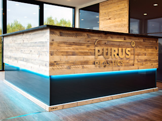 Geschäftsausstattung PURUS PLASTICS GmbH edictum - UNIKAT MOBILIAR