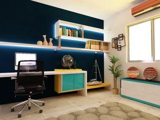 OLLIN ARQUITECTURA Study/officeDesks MDF Blue