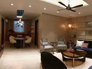 H5 Interior Design Soggiorno eclettico Beige