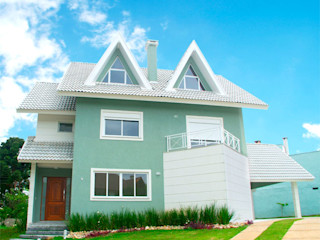 Grupo DH arquitetura Terrace house Bricks Green