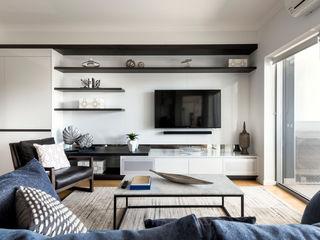 West Leederville Apartment Project Moda Interiors Salones de estilo moderno Multicolor