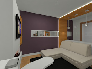 Grupo DH arquitetura BedroomAccessories & decoration Purple/Violet
