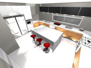 Grupo DH arquitetura KitchenCabinets & shelves White
