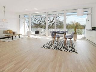 Modernes Mehrfamilienwohnhaus in Hamburg Architekt Witte Moderne Wohnzimmer