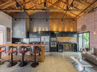 Espaço Gourmet de um Residência Dani Santos Arquitetura Pavimentos