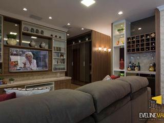 Eveline Maciel - Arquitetura e Interiores Nowoczesny salon