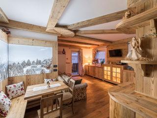 RI-NOVO Rustikale Wohnzimmer Holz Braun