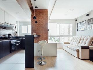 Camila Chalon Arquitetura Ruang Keluarga Modern Grey