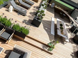 Ensemble de jardinières Image'In pour une décoration ultra design en toit terrasse ATELIER SO GREEN Balcon, Veranda & TerrasseAccessoires & décorations Gris