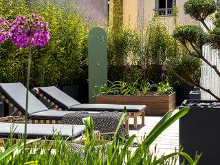 Ensemble de jardinières Image'In pour une décoration ultra design en toit terrasse ATELIER SO GREEN Piscine