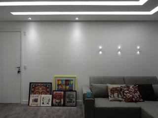 Ambiento Arquitetura Modern living room Concrete White