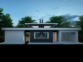 Проект современного одноэтажного дома Way-Project Architecture & Design Дома в стиле минимализм