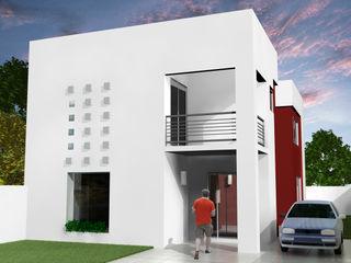 Grupo DH arquitetura Terrace house White