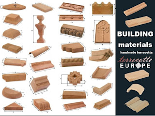 Handcrafted terracotta building materials for renovation and restoration Terrecotte Europe Museums Stone Beige