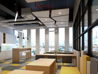 MODRRN & COLORFULL WORKSPACE @ MEGA KUNINGAN, JAKARTA PT. Dekorasi Hunian Indonesia (DHI) Kantor & Toko Modern