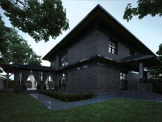 Проект кирпичного двухэтажного дома Way-Project Architecture & Design Дома в эклектичном стиле