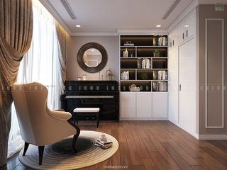 ICON INTERIOR Salas multimedia de estilo clásico