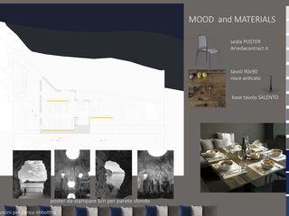 architetto Lorella Casola Minimalist dining room Concrete Grey