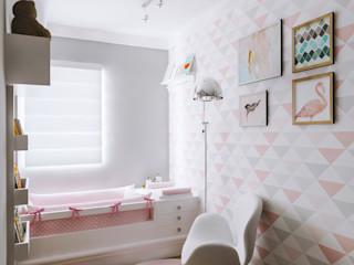 Secato Arquitetura e Interiores Kamar tidur anak perempuan MDF Pink