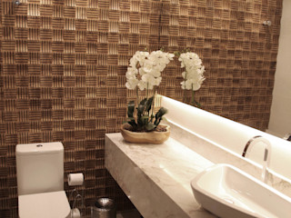 Suelen Kuss Arquitetura e Interiores Rustic style bathroom Wood Wood effect