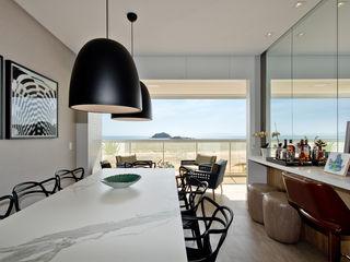 Espaço do Traço arquitetura Industrial style dining room