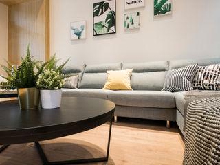 員林江公館 築本國際設計有限公司 现代客厅設計點子、靈感 & 圖片