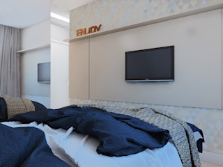 TAED ARQUITETURA Modern style bedroom