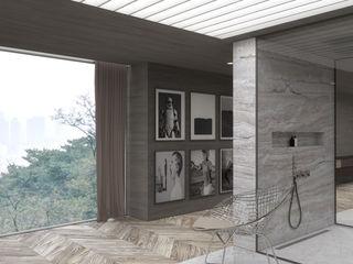 Schuster Innenausbau Baños de estilo moderno Hormigón Blanco