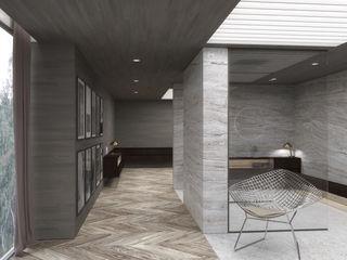 Schuster Innenausbau Baños de estilo moderno Mármol Blanco